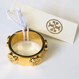 Tory Burch GOLD Stud Gold Logo Ring